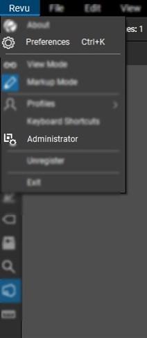 User Preferences & Admin Settings in Revu