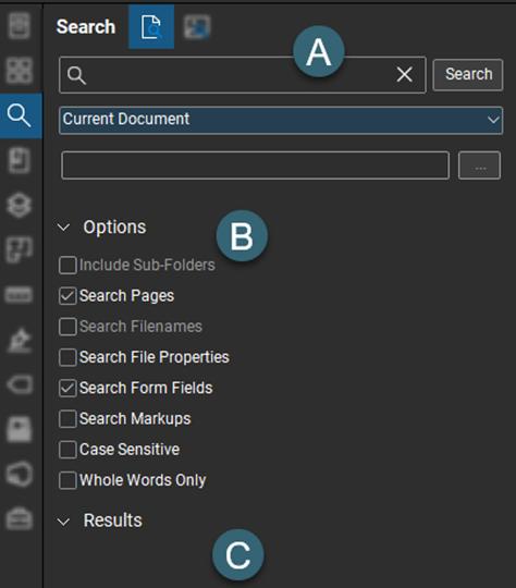 Utilizing the Search Panel in Bluebeam Revu